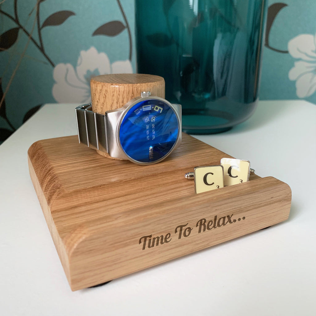 Personalised Oak Watch Stand