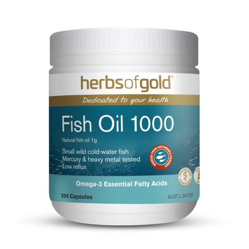 Herbs of Gold Fish Oil 1000 200 Capsules