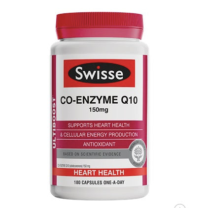 Swisse Co-Enzyme Q10 180 Capsules
