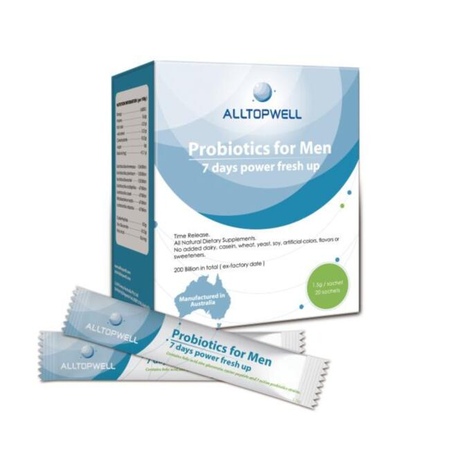 Alltopwell Probiotics for Men 20 saches EXP: 10/2020