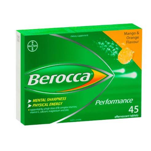 Berocca Performance Mango&Orange 45 Effervescent Tablets