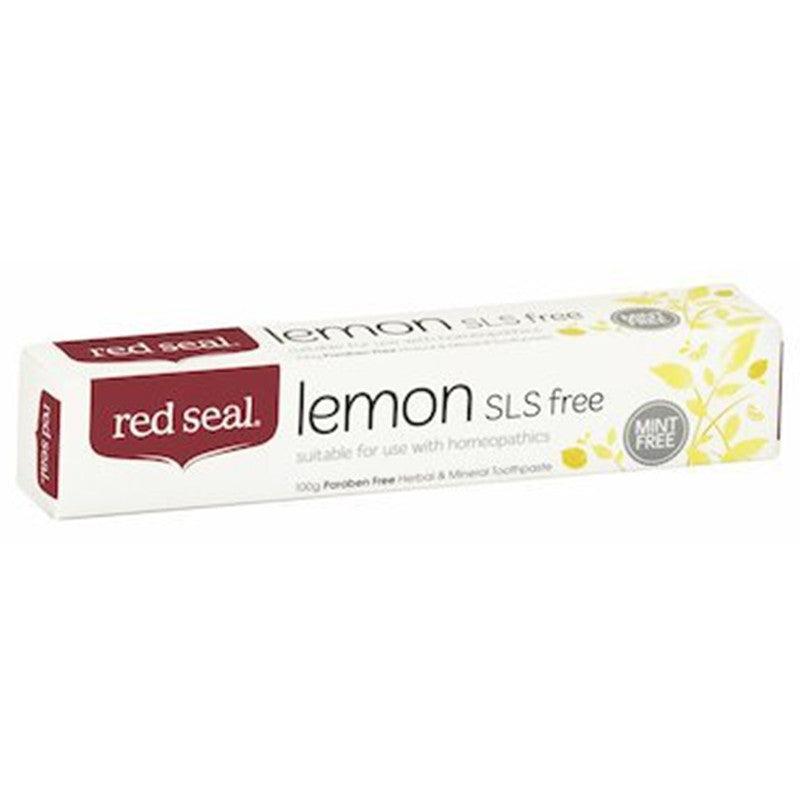 Red Seal Lemon SLS Free Toothpaste 100g