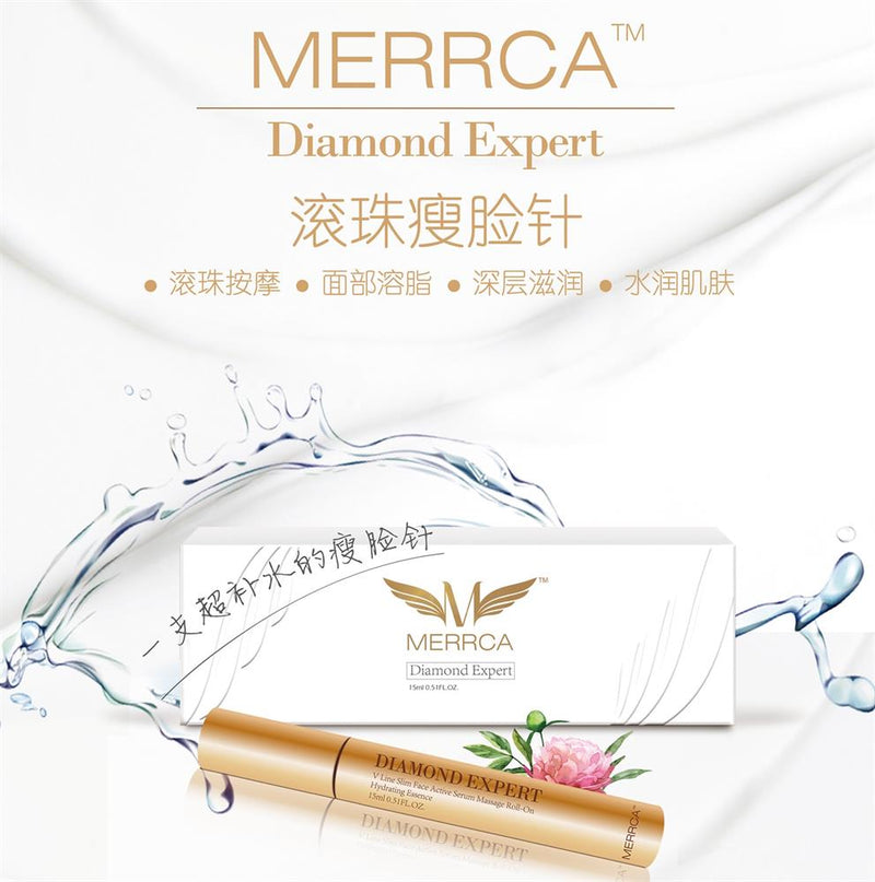 Merrca Diamond Expert V Line Slim Face Active Serum Massage Roll-On 15ml