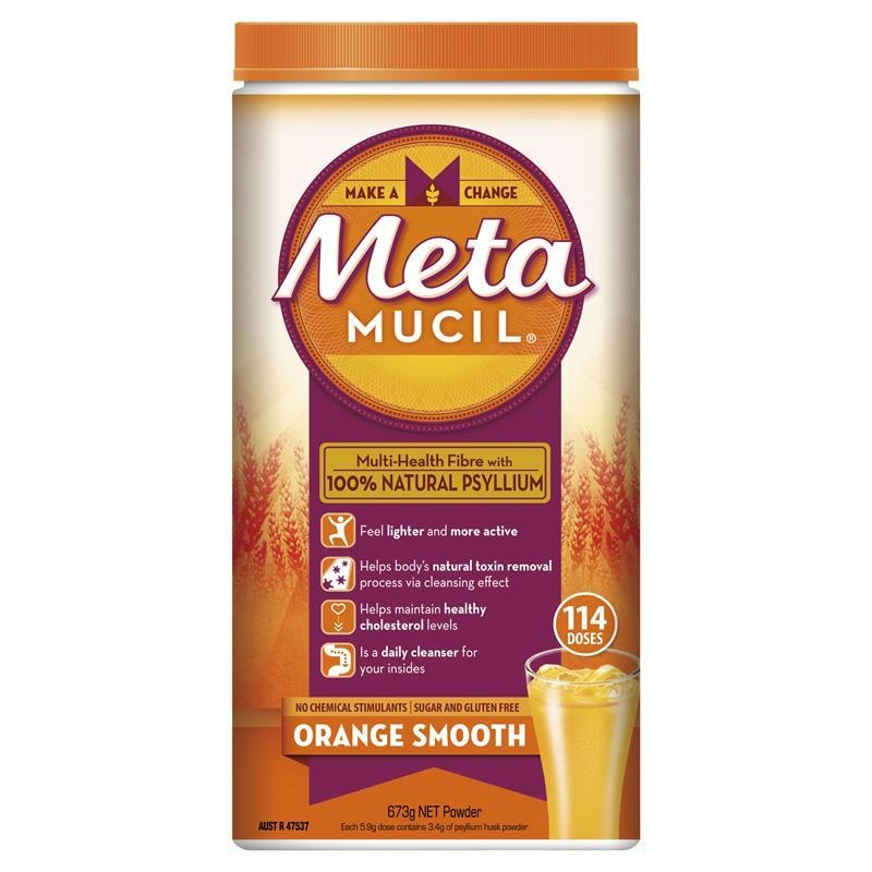 Metamucil Multi-Health Fibre Orange Smooth 673g