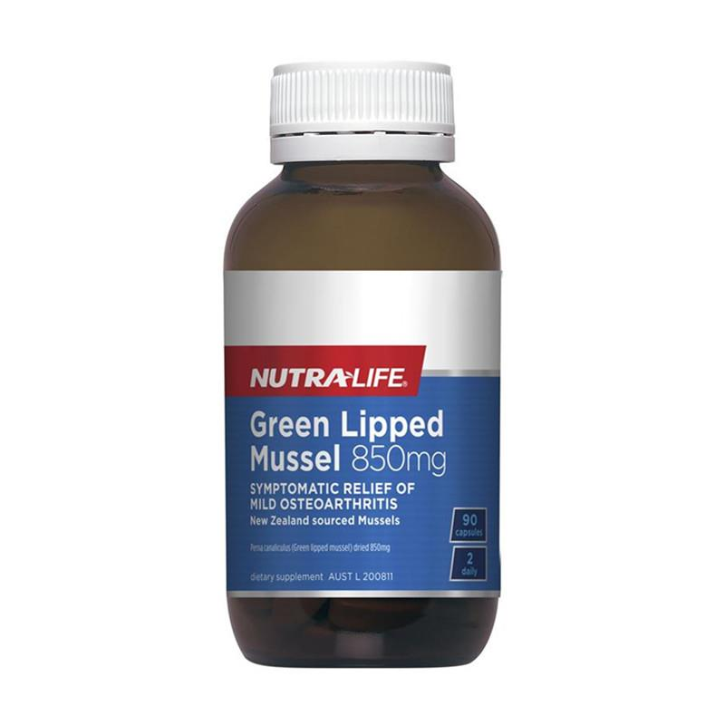 Nutra Life Green Lipped Mussel 850mg 90 capsules