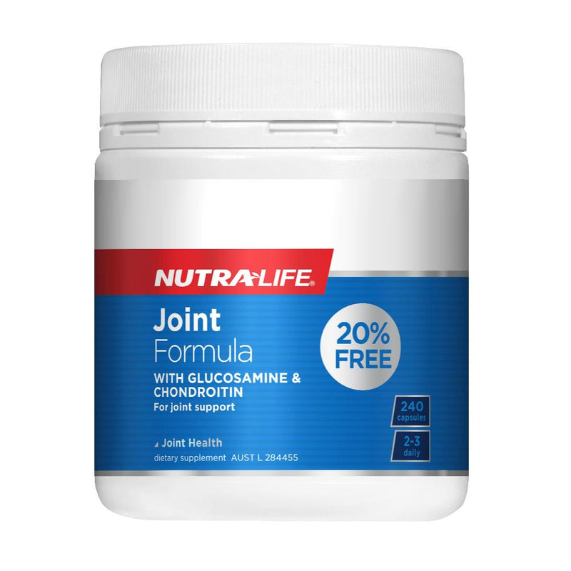 Nutra Life Joint Formula with Glucosamine & Chondroitin 240 Capsules 20% Free
