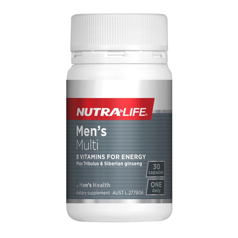 Nutra Life Mens Multi One-a-Day 30 Vegan Capsules