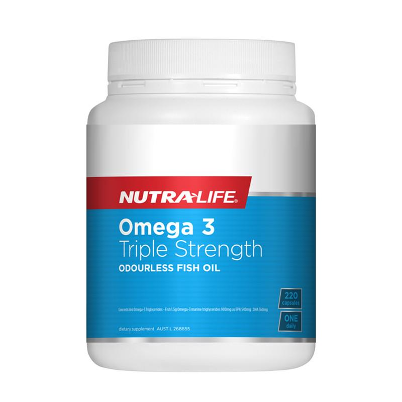 Nutra Life OceanClean Triple Strength Omega 3 220 Capsules