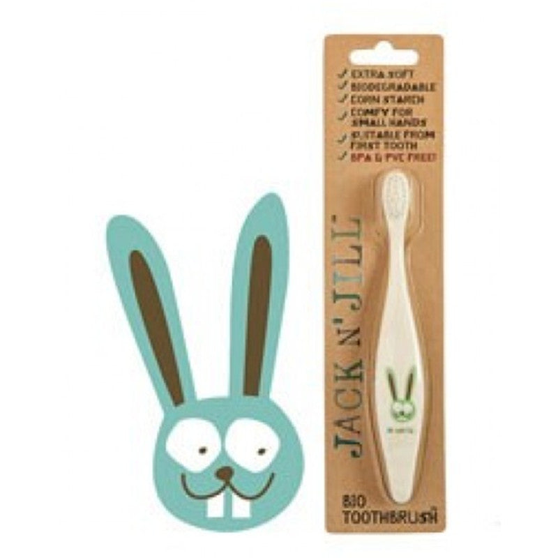 Jack N Jill Bio Toothbrush Compostable & Biodegradable Handle BUNNY