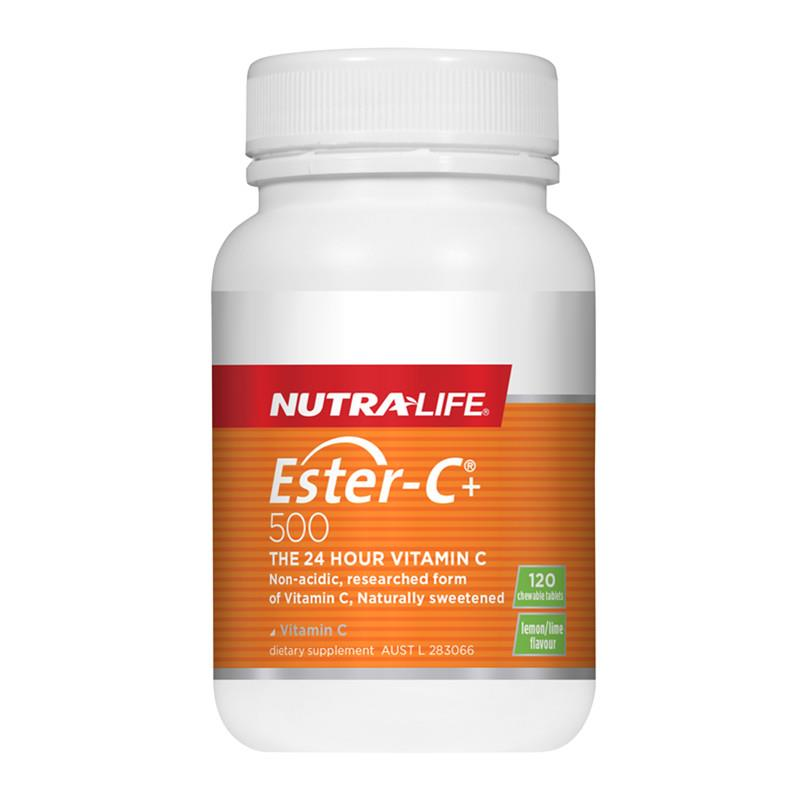 Nutra Life Ester C 500mg 120 Chewable Tablets