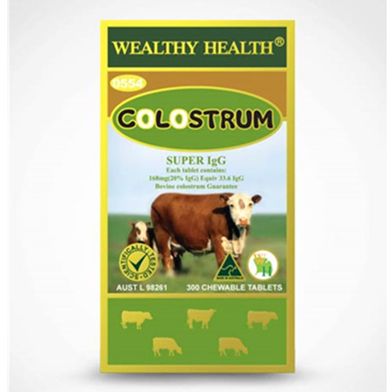 Wealthy Health Colostrum 300 Chewable Tablets