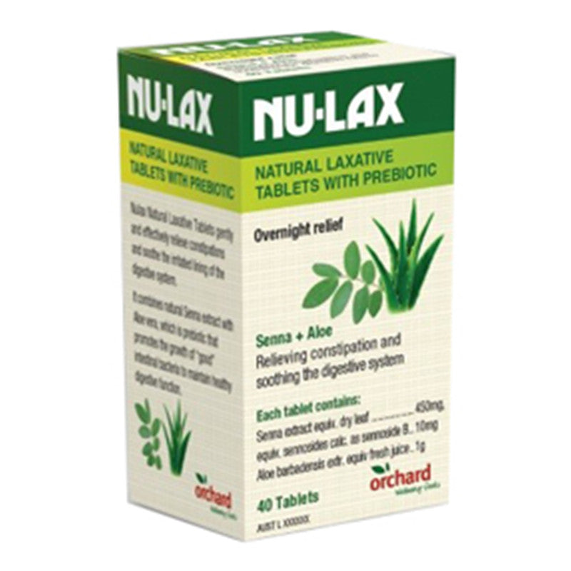 Nu-Lax Natural Laxative Tablets with Prebiotic 40 Tablets