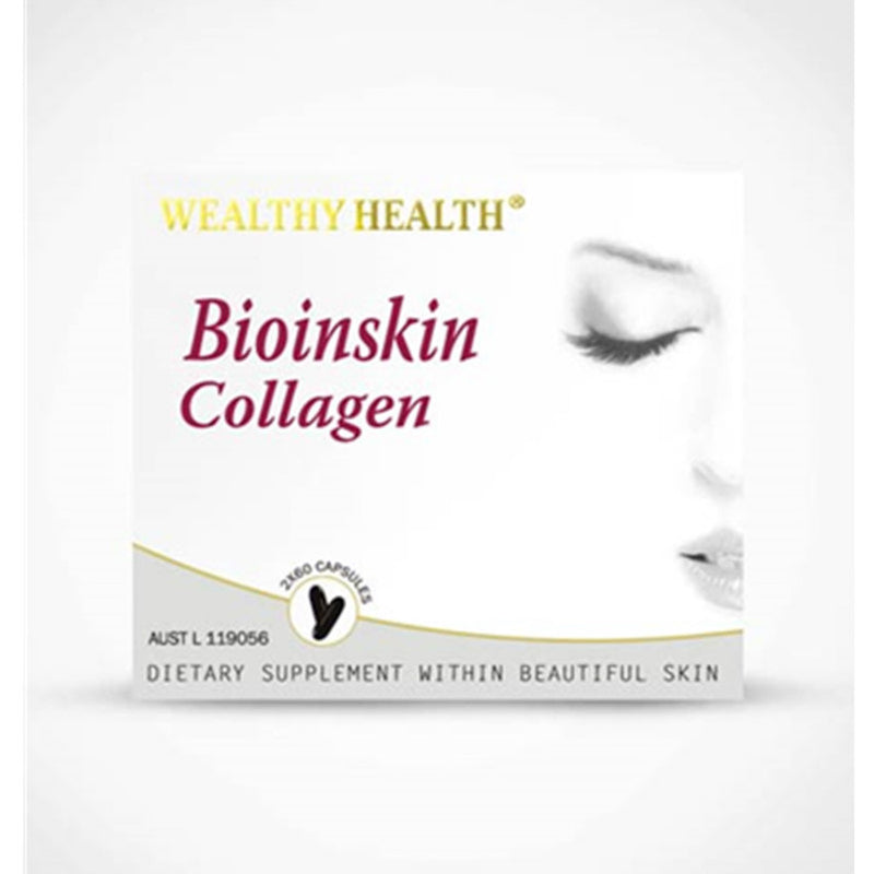 Wealthy Health BioinSkin Collagen 2x60 Capsules