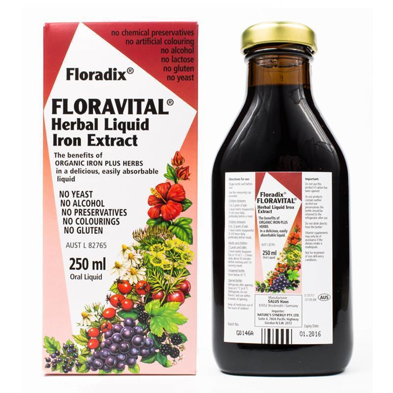 Floradix Floravital Herbal Liquid Iron Extract  250 mL