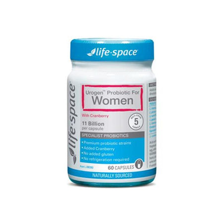 Life Space Urogen Probiotic For Women With Cranberry 60 Capsules