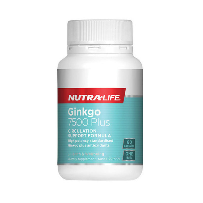 Nutra Life Ginkgo 7500 60 Capsules