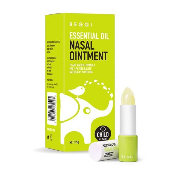 Beggi New Zealand Made Essential Oil Nasal Ointment Child 2+ Years 3.5g