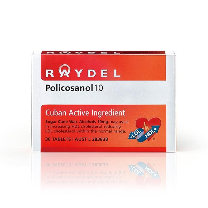 Raydel Policosanol 10 Cuban Active Ingredient 30 Tablets