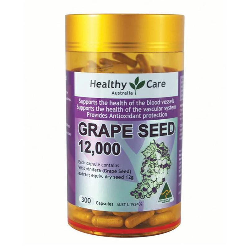 Healthy Care Grape Seed Extract 12000 Gold Jar 300 Capsules EXP: 11/2020