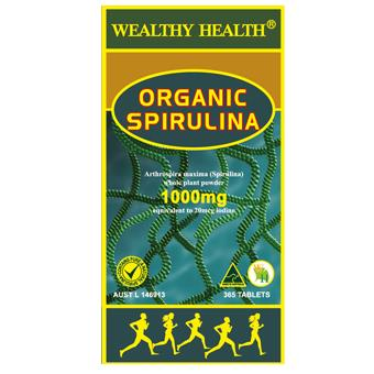 Wealthy Health Organic Spirulina 365tablets