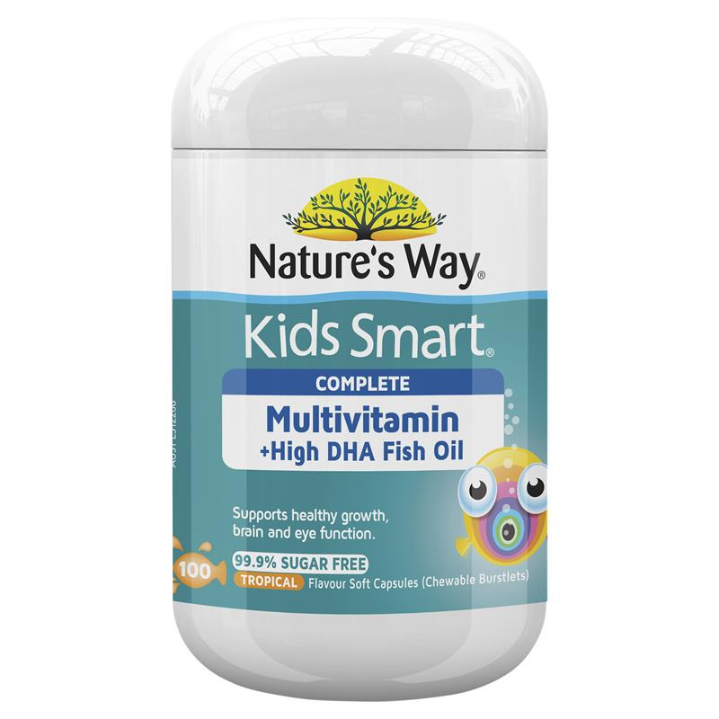 Natures Way Kids Smart Complete Multi Vitamin & Fish Oil 100 Capsules