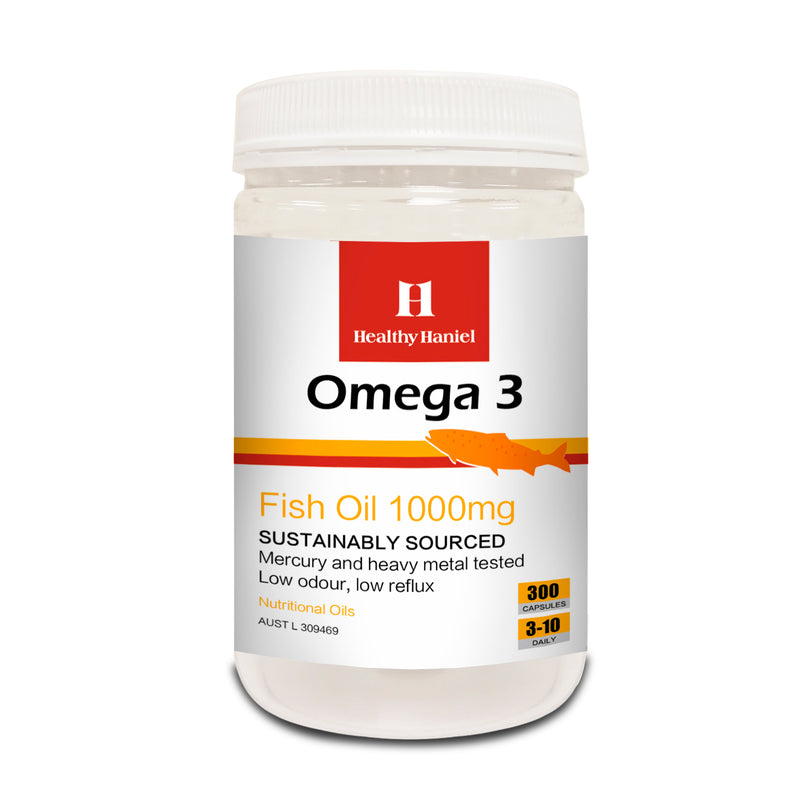 Healthy Haniel Omega 3 Fish Oil 1000mg 300capsules