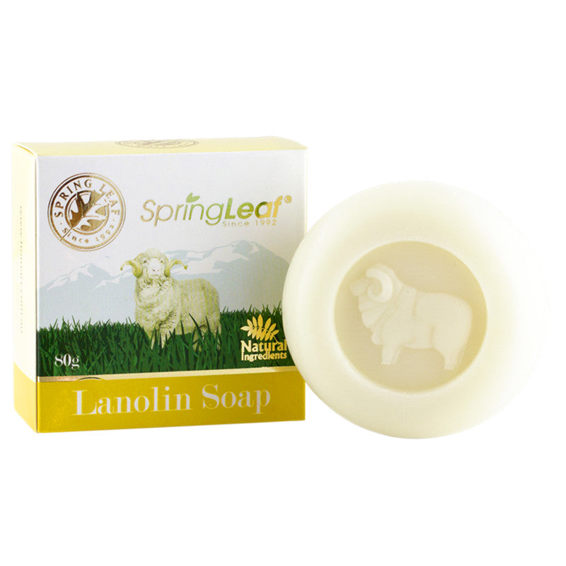 Spring Leaf Lanolin Soap 80g