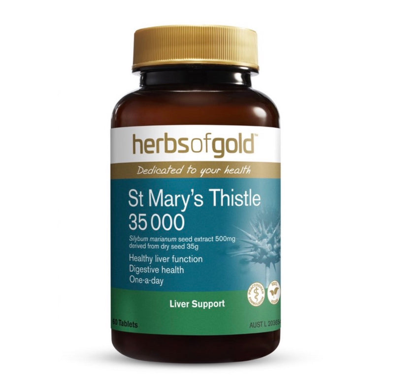 Herbs of Gold St Marys Thistle 35000 60 Tablets