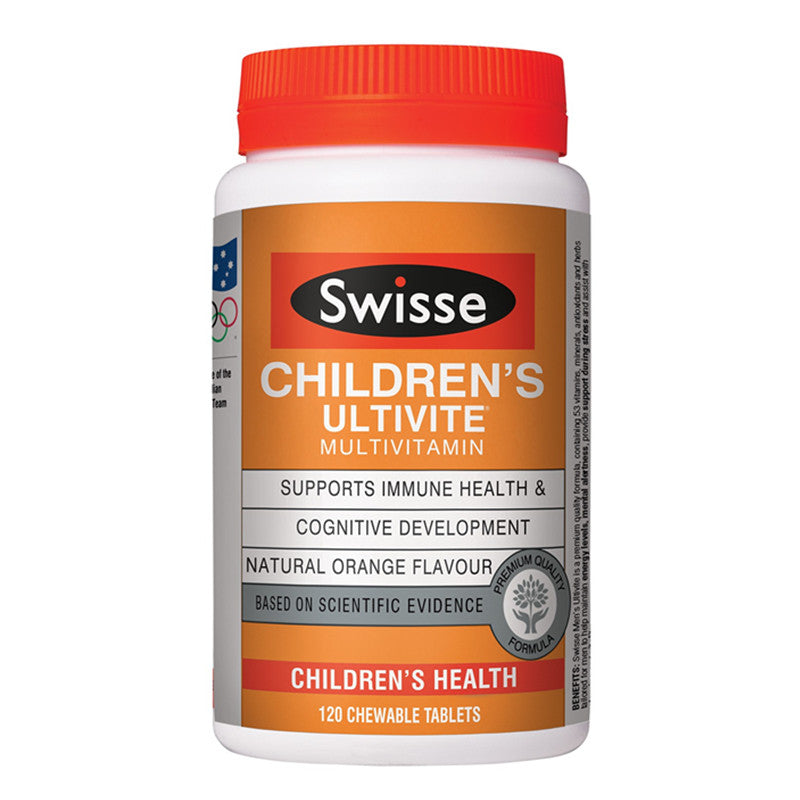 Swisse Childrens Ultivite 120 Chewable Tablets