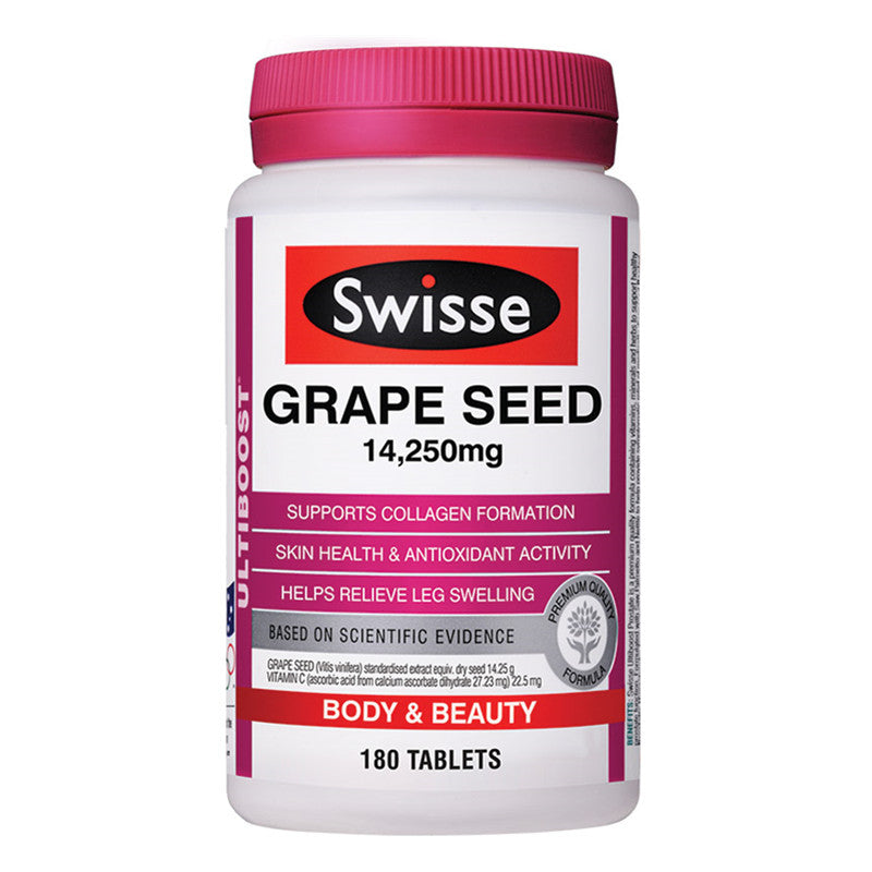 Swisse Ultiboost Grape Seed 14,250mg 180 Tablets