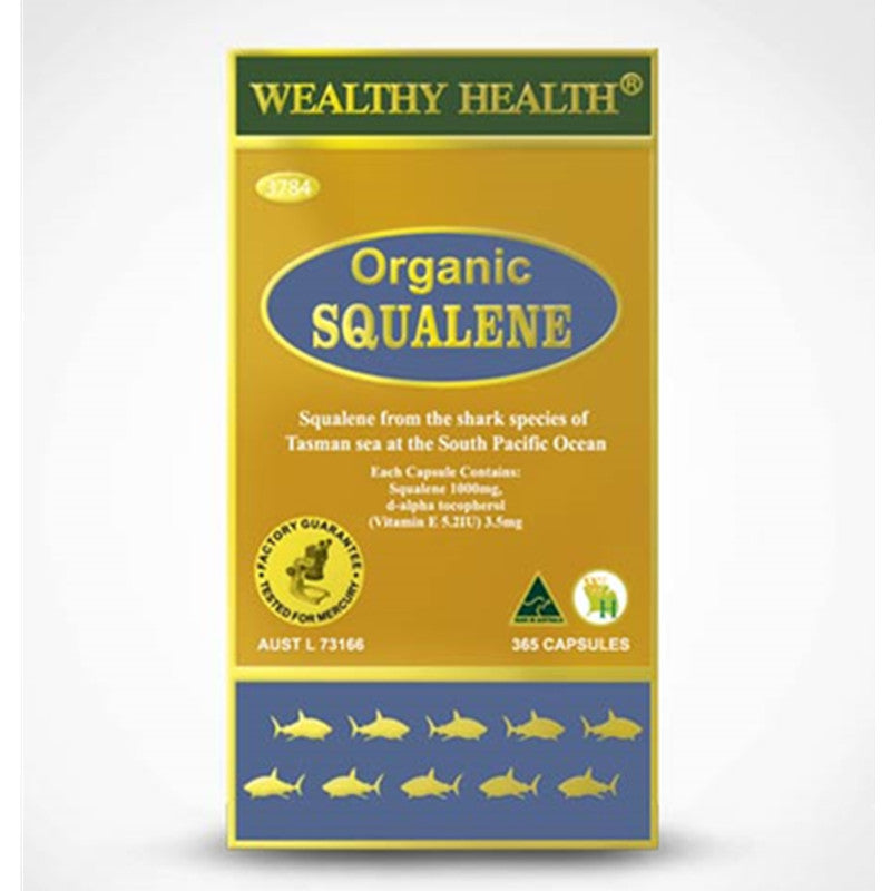 Wealthy Health Organic Squalene 365 Capsules