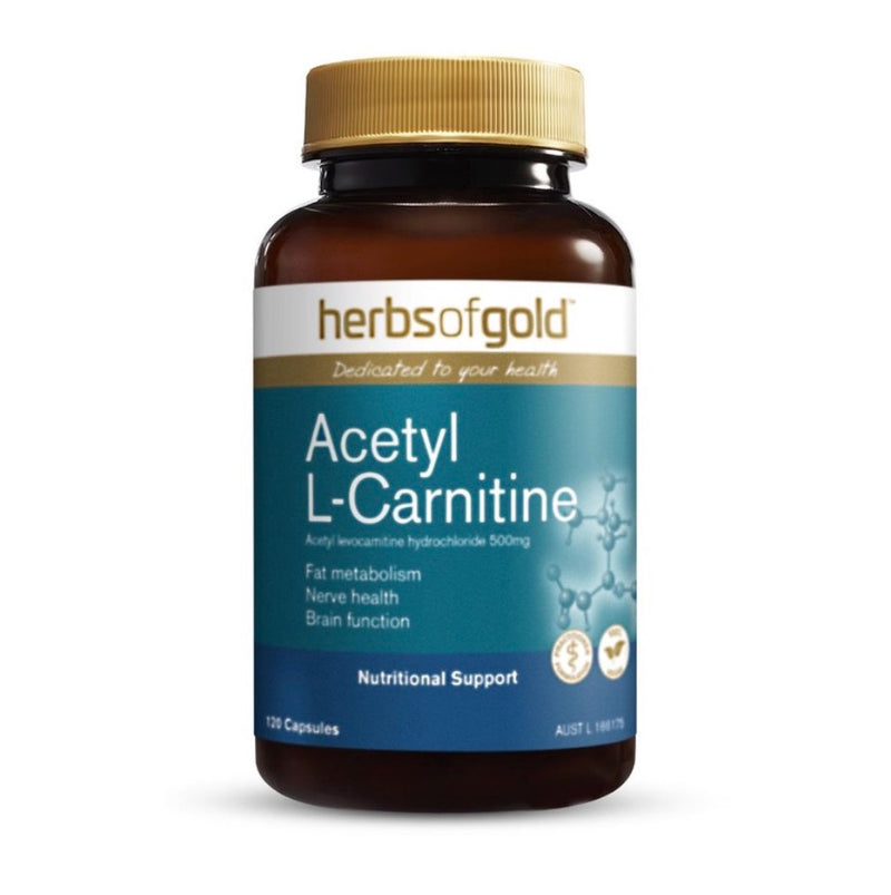 Herbs of Gold Acetyl L-Carnitine 120 Capsuels