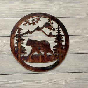 Bear Wildlife Art Wall Art Third Shift Fabrication 15 inch | $75.00 Copper River
