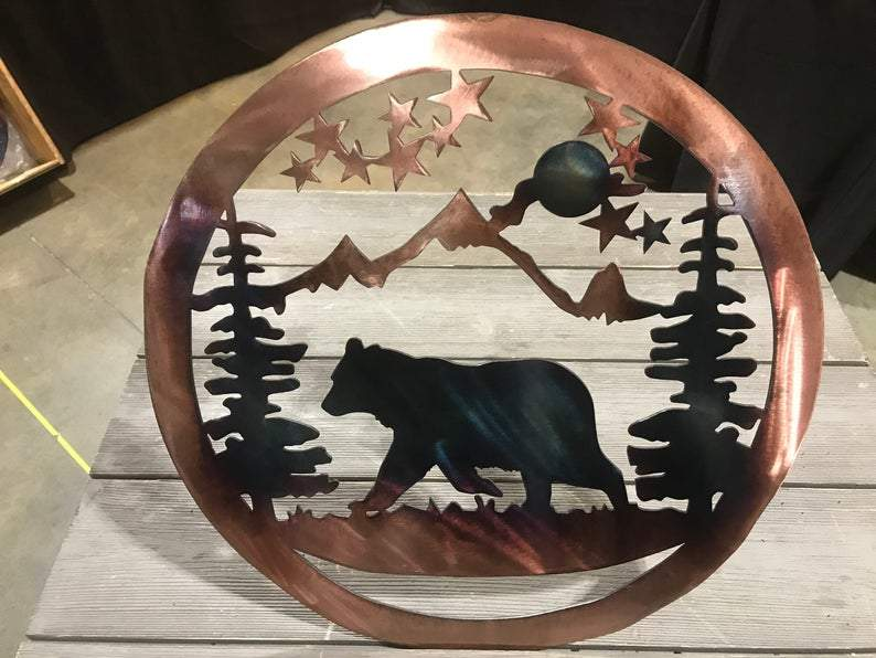 Bear Wildlife Art Wall Art Third Shift Fabrication