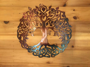 Celtic Tree of Life Wall Art Third Shift Fabrication 15"