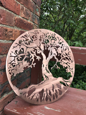 Classic Tree of Life - Family Tree Personalized Wall Art Third Shift Fabrication 24"