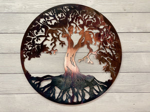 Classic Tree of Life - Family Tree Personalized Wall Art Third Shift Fabrication
