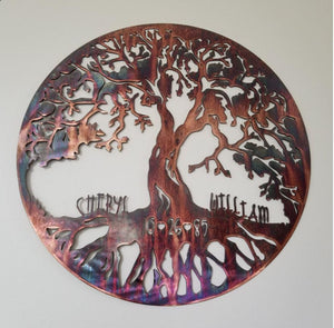 Classic Tree of Life - Personalized Wall Art Third Shift Fabrication 24"