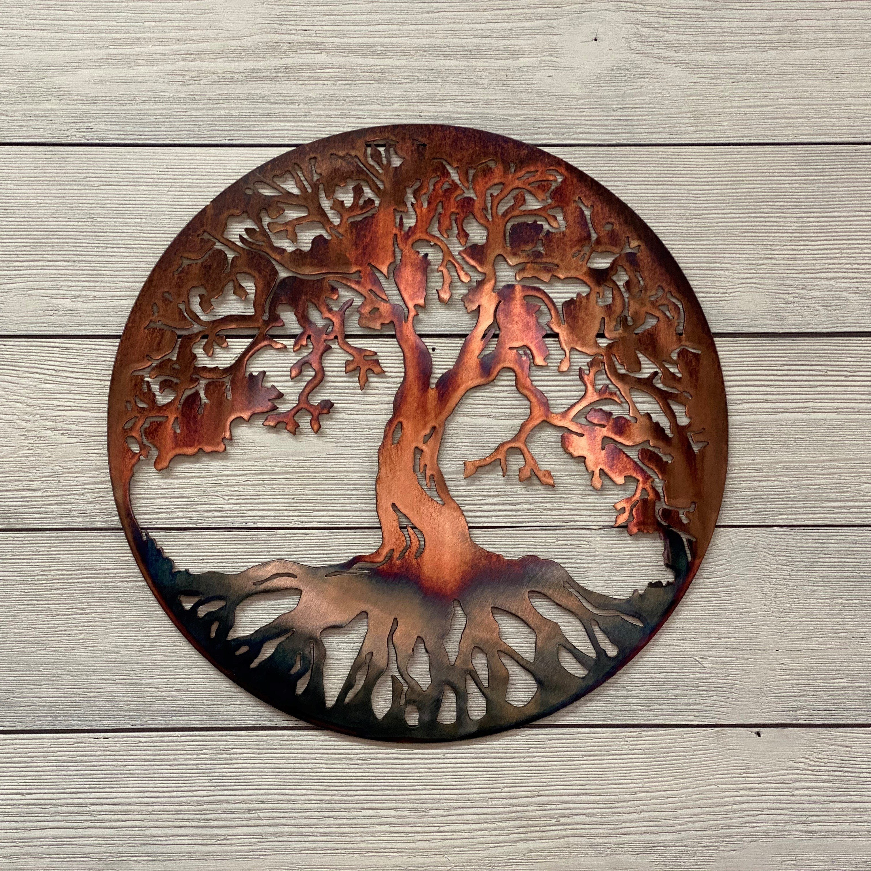 Classic Tree of Life Wall Art Third Shift Fabrication 15"