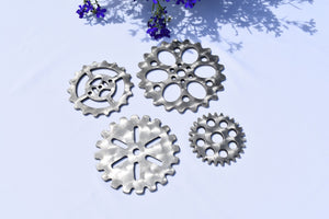 Coasters - Stainless Steel Gears Third Shift Fabrication Mixed Set of 4