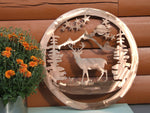 Deer Wildlife Art Wall Art Third Shift Fabrication 15 inch | $75.00 Classic Copper