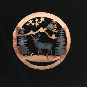 Deer Wildlife Art Wall Art Third Shift Fabrication 15 inch | $75.00 Copper River