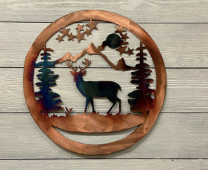 Deer Wildlife Art Wall Art Third Shift Fabrication 15 inch | $75.00 Copper Torch