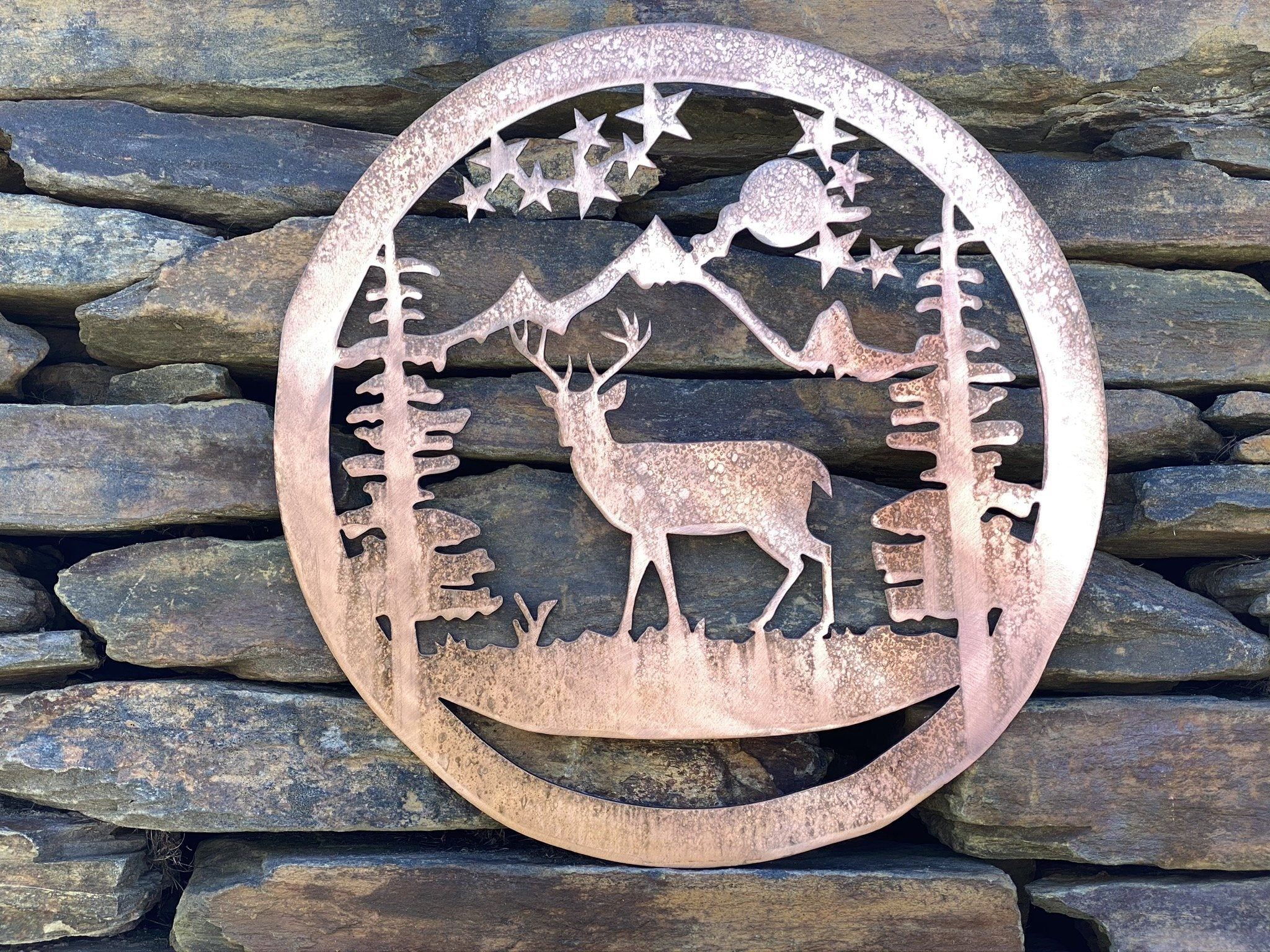 Deer Wildlife Art Wall Art Third Shift Fabrication