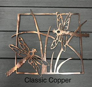 Dragonflies Wall Art Third Shift Fabrication Classic Copper