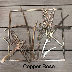 Dragonflies Wall Art Third Shift Fabrication Copper Rose