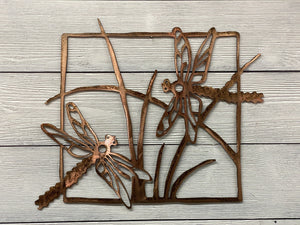 Dragonflies Wall Art Third Shift Fabrication Vintage Copper