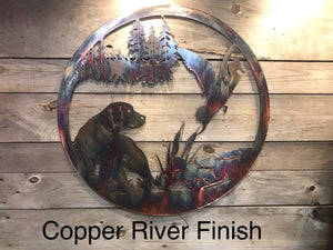 Duck and Dog Wall Art - Personalized Wall Art Third Shift Fabrication Copper River