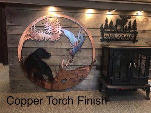 Duck and Dog Wall Art - Personalized Wall Art Third Shift Fabrication Copper Torch