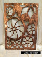 Engine House Gears Wall Art Third Shift Fabrication Vintage Copper
